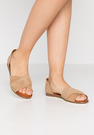 LEATHER - Riemensandalette - beige