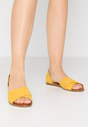 LEATHER - Sandales - yellow