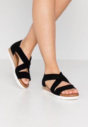LEATHER - Sandály na platformě - black