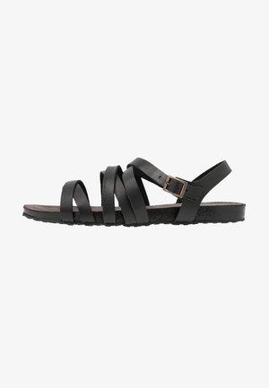 LEATHER SANDALS - Sandaler - black