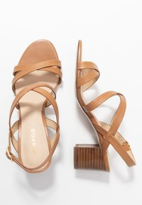 Anna Field - LEATHER SANDALS - Sandalias - cognac - 3