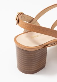 Anna Field - LEATHER SANDALS - Sandalias - cognac - 2