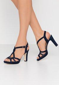 Anna Field - LEATHER HEELED SANDALS - High heeled sandals - dark blue - 0