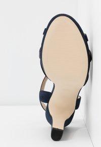 Anna Field - LEATHER HEELED SANDALS - High heeled sandals - dark blue - 6