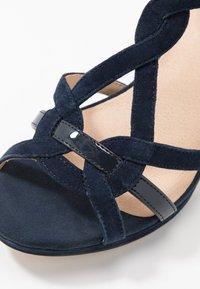 Anna Field - LEATHER HEELED SANDALS - High heeled sandals - dark blue - 2