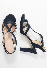 Anna Field - LEATHER HEELED SANDALS - High heeled sandals - dark blue - 3