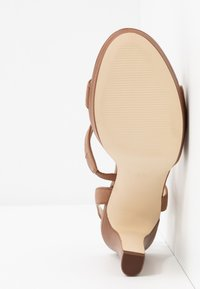 Anna Field - LEATHER HIGH HEELED SANDALS - High heeled sandals - cognac - 6