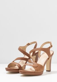 Anna Field - LEATHER HIGH HEELED SANDALS - High heeled sandals - cognac - 4