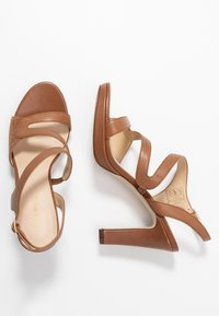 Anna Field - LEATHER HIGH HEELED SANDALS - High heeled sandals - cognac - 3