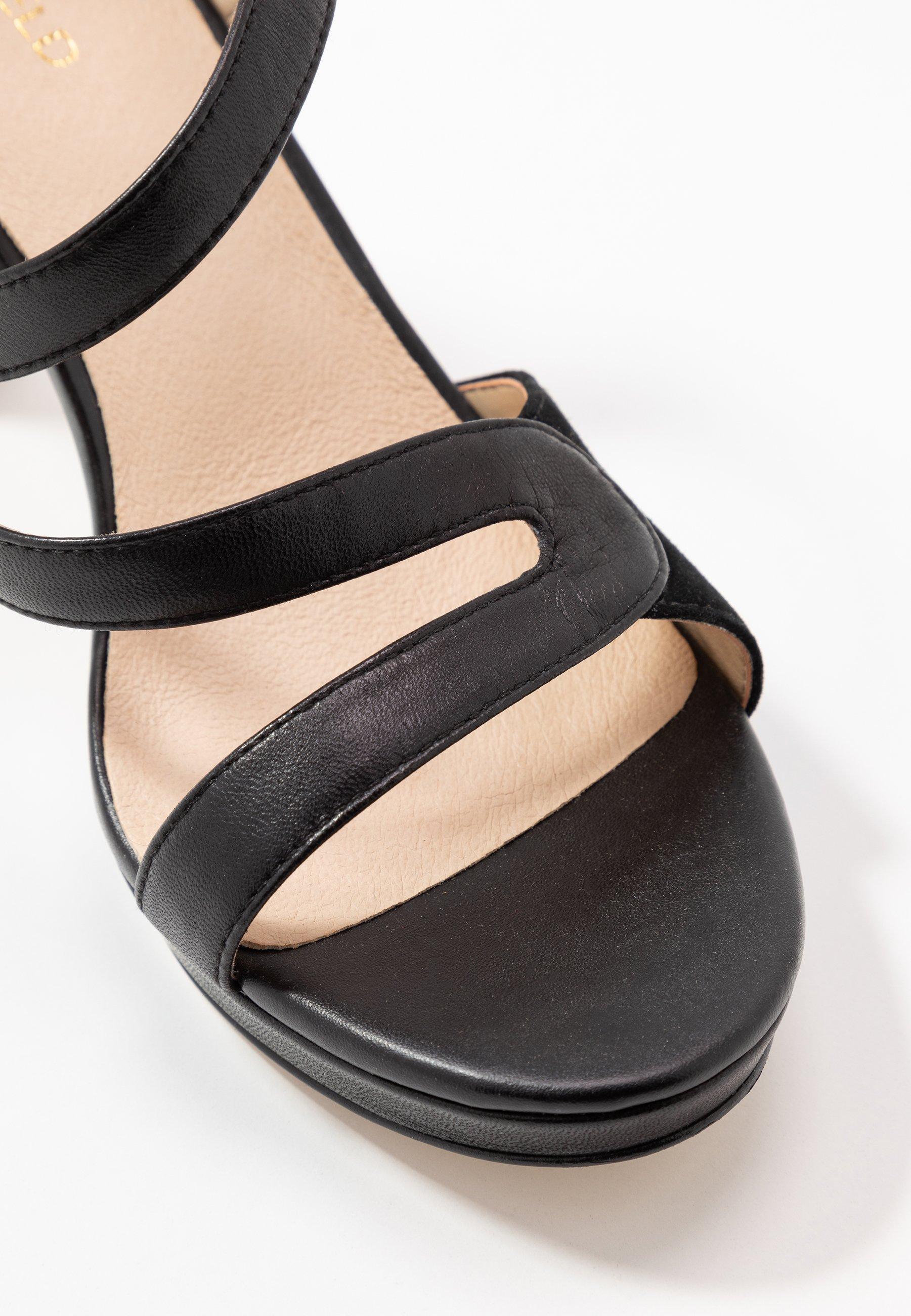 Anna Field LEATHER HIGH HEELED SANDALS - High heeled sandals - black
