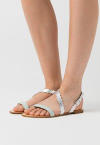 Anna Field - LEATHER FLAT SANDALS - Sandals - silver - 0
