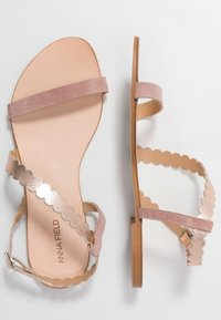Anna Field - LEATHER SANDALS - Sandály - rose - 3