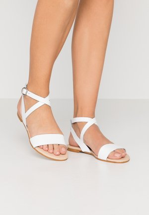 LEATHER SANDALS - Sandals - white