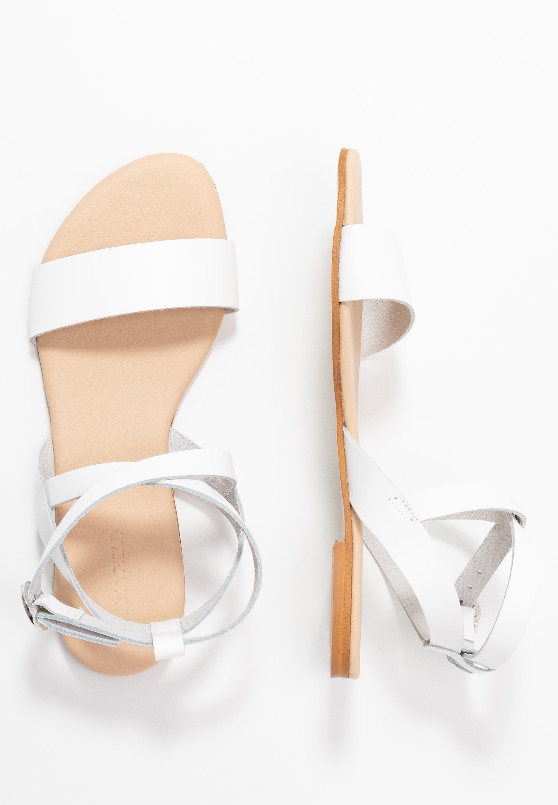 Anna Field Leather Sandals - Sandaler White
