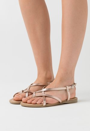 LEATHER  - Flip Flops - rose gold