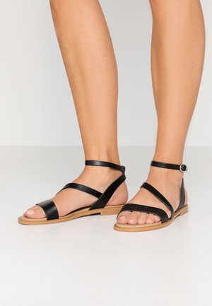 LEATHER SANDALS - Riemensandalette - black