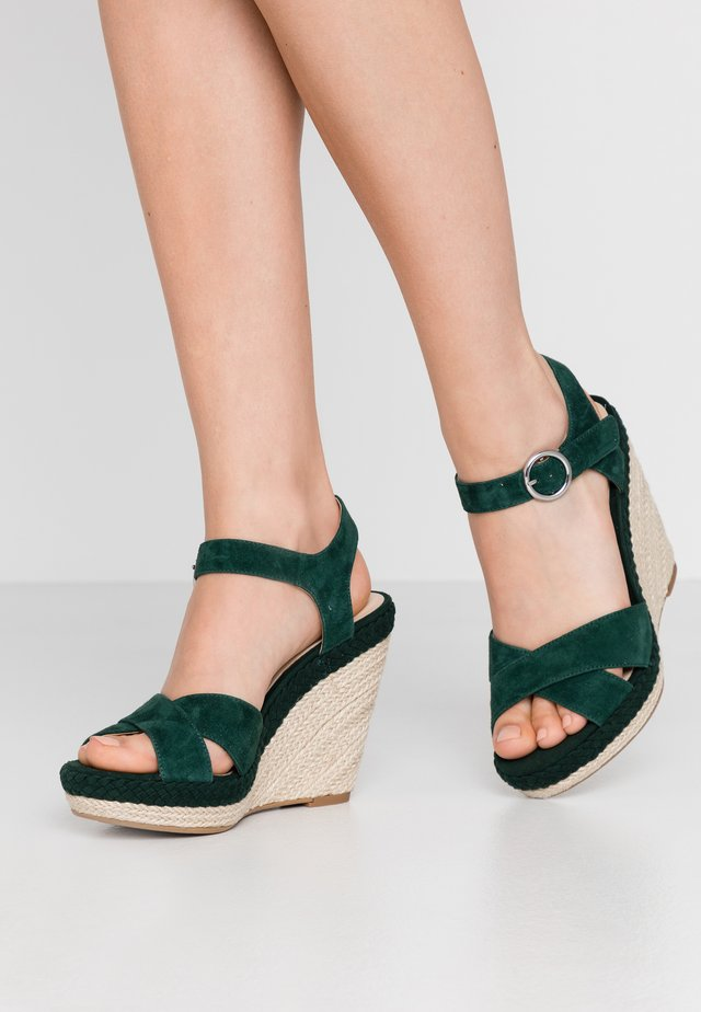LEATHER - High heeled sandals - green