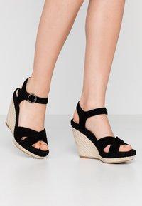 Anna Field - LEATHER - Sandály na vysokém podpatku - black - 0