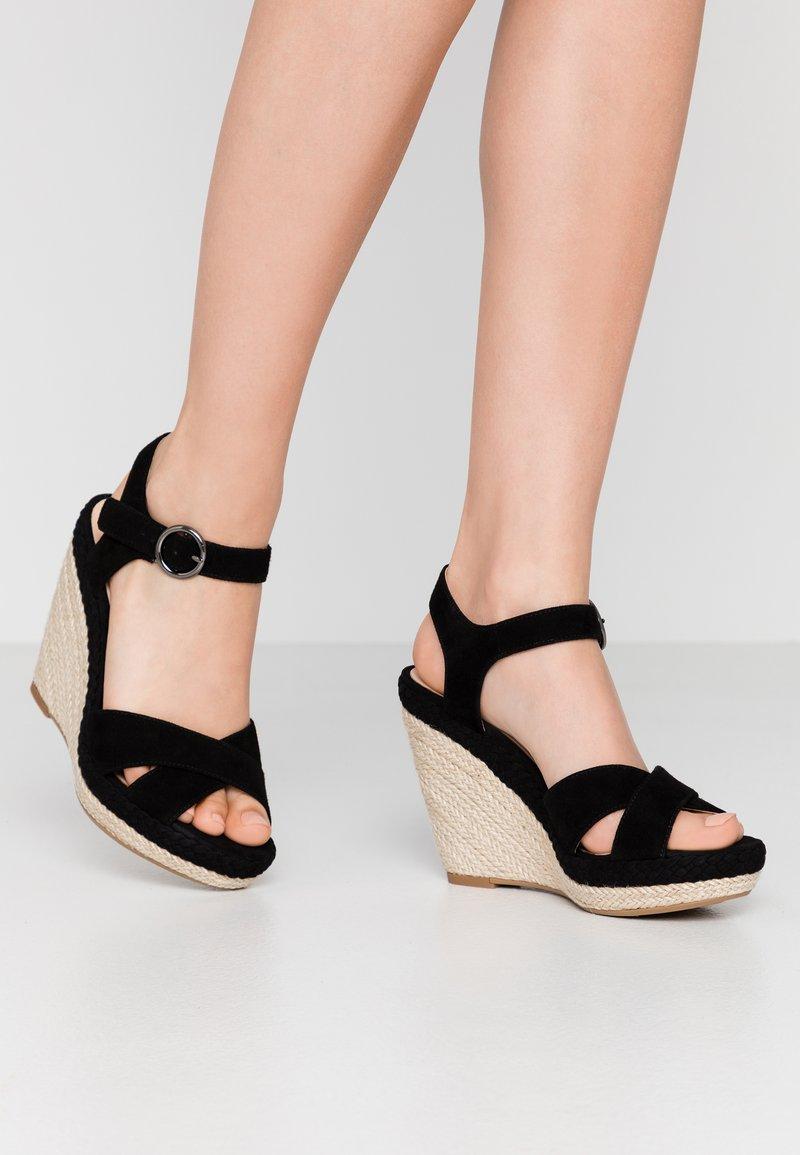 Anna Field - LEATHER - Sandály na vysokém podpatku - black