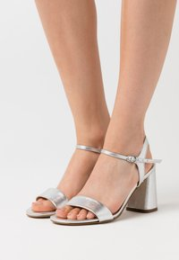 Anna Field - LEATHER SANDALS - High heeled sandals - silver - 0