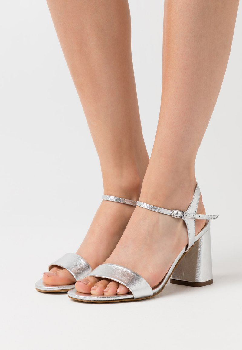 Anna Field - LEATHER SANDALS - High heeled sandals - silver