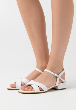 LEATHER - Sandaler - white