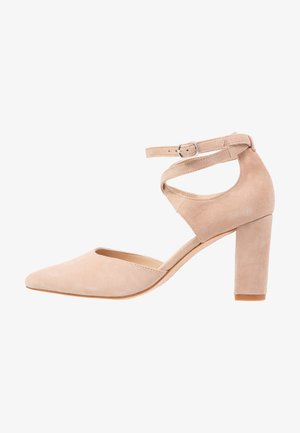 LEATHER CLASSIC HEELS - High heels - nude