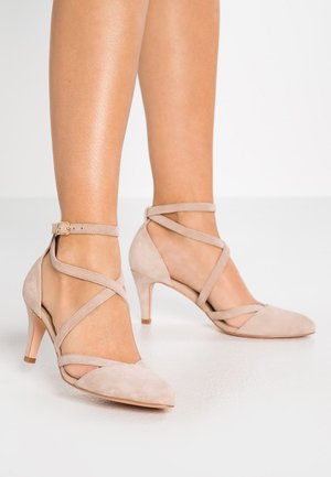 LEATHER CLASSIC HEELS - Pumps - nude