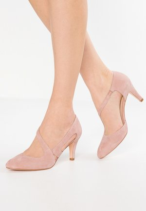 LEATHER CLASSIC HEELS - Czółenka - rose