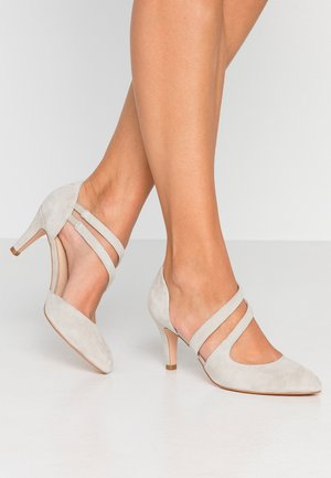 LEATHER PUMPS - Tacones - grey