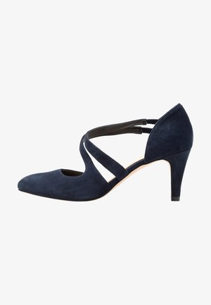 LEATHER PUMPS - Escarpins - dark blue