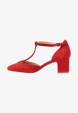 LEATHER PUMPS - Classic heels - red