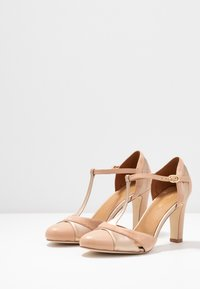 Anna Field - LEATHER HIGH HEELS - Zapatos altos - nude - 4