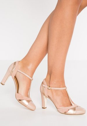 LEATHER HIGH HEELS - Szpilki - nude