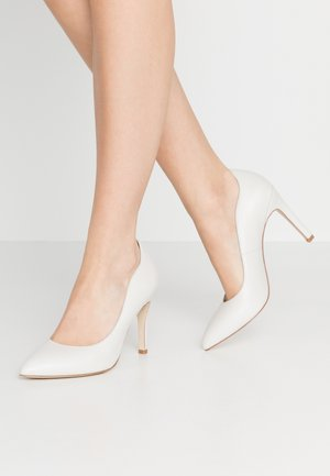 LEATHER HIGH HEELS - Decolleté - white