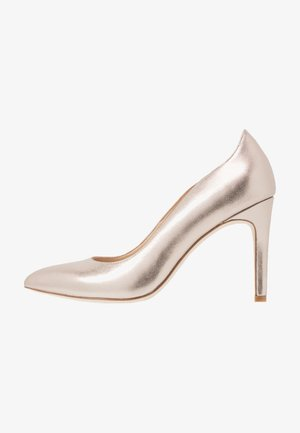 LEATHER HIGH HEELS - Korolliset avokkaat - champagne