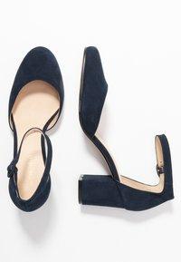 Anna Field - LEATHER CLASSIC HEELS - Tacones - dark blue - 3