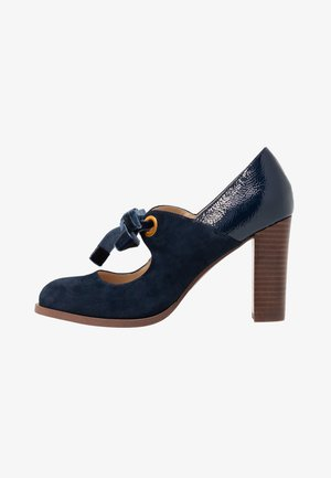 LEATHER PUMPS - Classic heels - dark blue