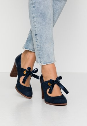 LEATHER PUMPS - Klassiske pumps - dark blue