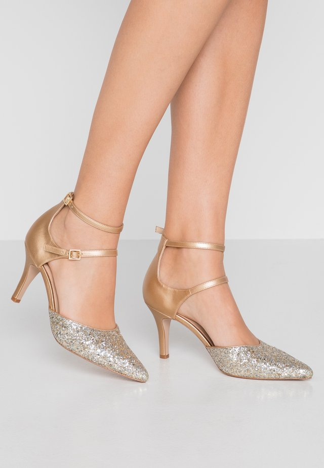 LEATHER - Classic heels - gold