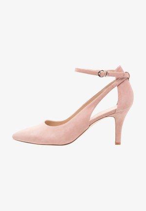 LEATHER PUMPS - High heels - pink