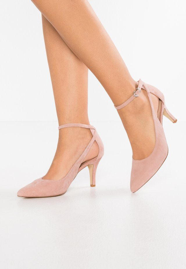 LEATHER PUMPS - High heels - pink