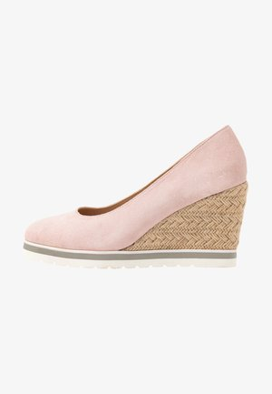 LEATHER HIGH HEELS - Hoge hakken - pink