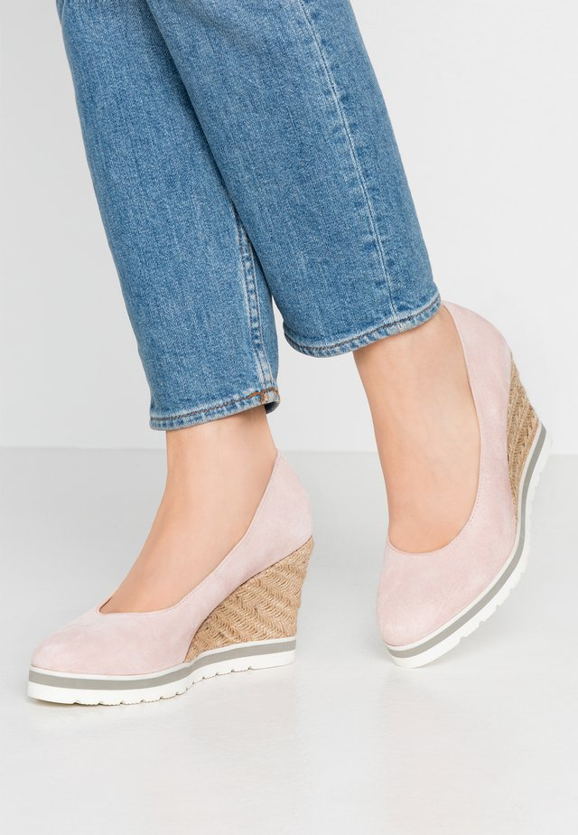 LEATHER HIGH HEELS - High Heel Pumps - pink