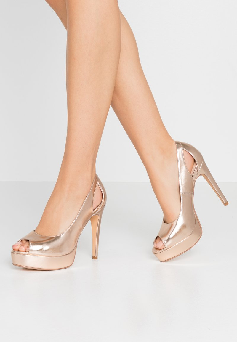 Anna Field - Peeptoe heels - rose gold