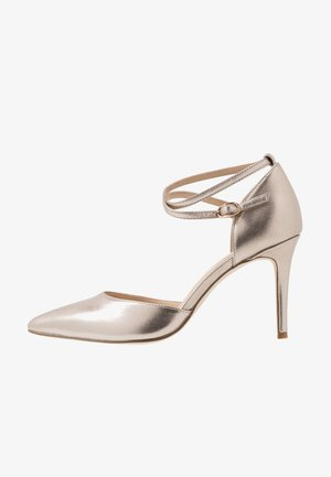 LEATHER PUMPS - High heels - champagne