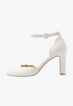LEATHER PUMPS - Escarpins à talons hauts - white