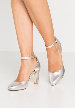 LEATHER PUMPS - Høye hæler - silver
