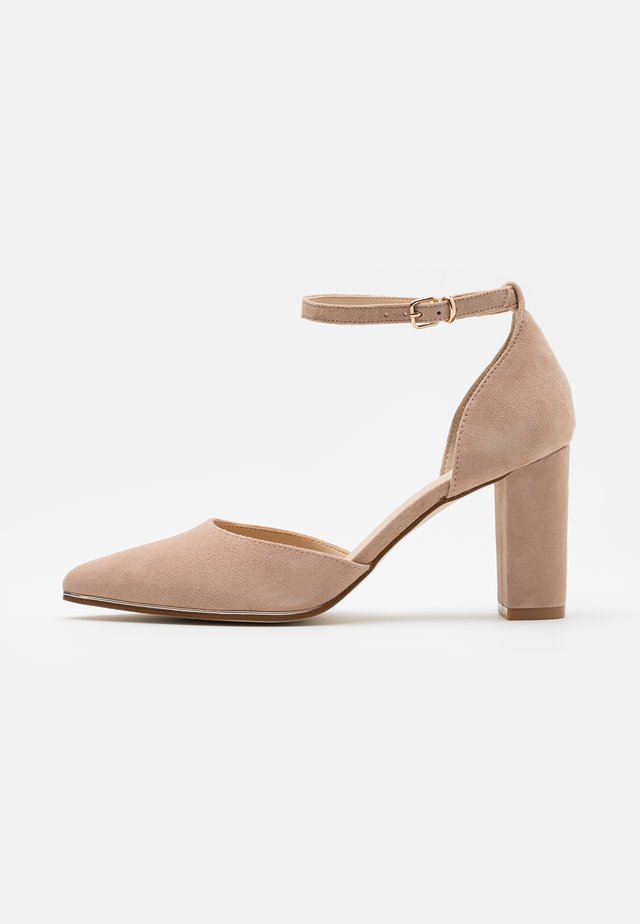 LEATHER - Classic heels - beige