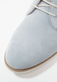 Anna Field - LEATHER FLAT SHOES LACE-UPS - Lace-ups - light blue - 2